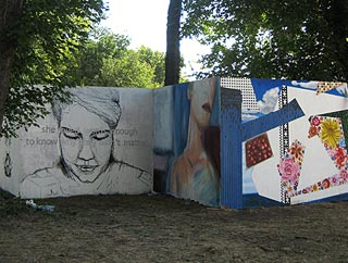 painted boards at sziget festival